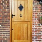 Solid Oak Stable Door With Antique Stain