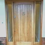 Solid Oak Door With Glazed Sidelights