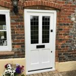 Painted Hardwood Glazed Front Door