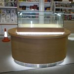 Bespoke display cabinet made from timber