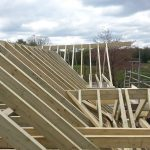 Bespoke joinery roof construction