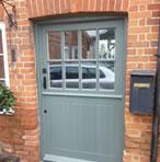 A door made using bespoke timber joinery design