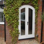 Curved double patio doors