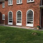 Curved timber windows