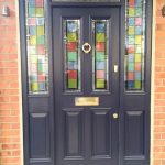 Timber entrance door with custom glazing