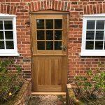 European oak stable door installation