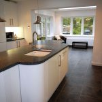 Extension with kitchen and upvc orangery