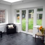 Orangery extension with french doors