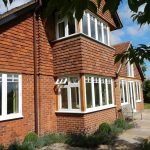 Flush sash wooden timber windows