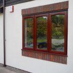 Mahogany windows