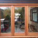 Oak bifold door external view