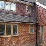 Oak sash window installation