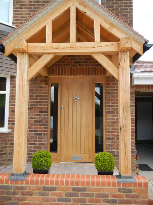 Light Oak Composite Front Door Part - 21: An Oak Front Door With Oak Porch