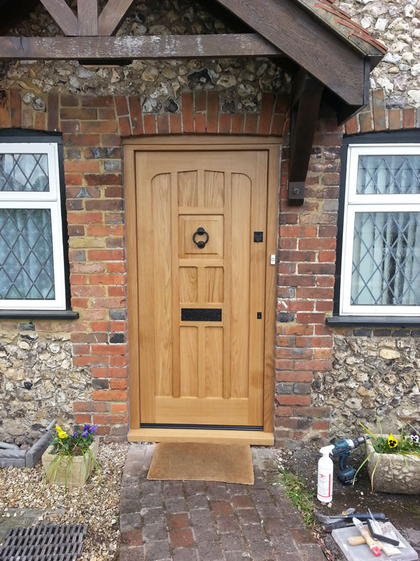 on wooden front doors bespoke