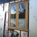 Oak windows installed into a new extension