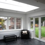 Orangery with downlights