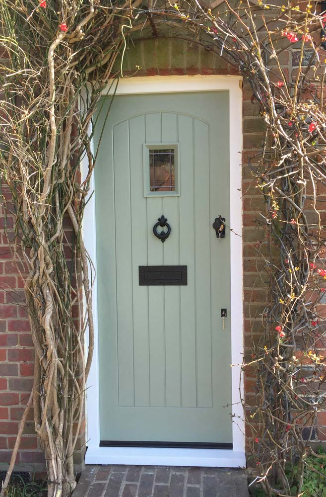 Chartwell green painted timber door