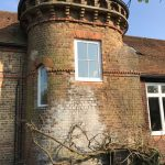 Window installed on pigeon tower cottage