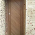 Secure oak entrance door