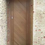 Secure oak entrance door