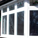 Double glazed bay timber windows