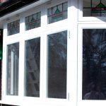 Double glazed bay timber windows