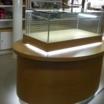 Timber display cabinet with glow light