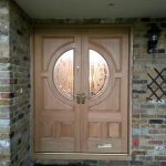 Double timber entrance door