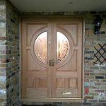 Double timber entrance door