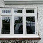 Timber windows with lead detail