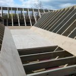 Timber roof that has been custom designed for a construction project