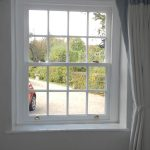 Timber sash window internal shot
