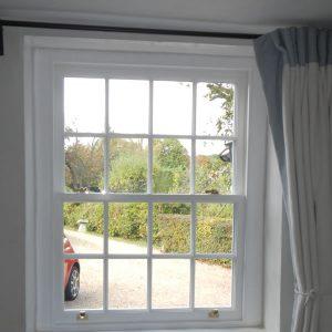 Timber sash window internal shot