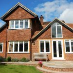 Angled timber windows