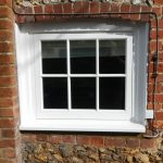 Timber window with georgian bars