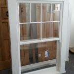 Vertical sliding sash window - isolated product shot