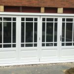White painted patio folding doors