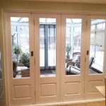 Glazed white timber bifold