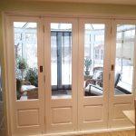 Glazed white timber bifold