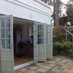 Sliding folding timber doors