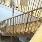 Timber staircase bannister joinery