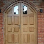 Solid Oak Curved Double Doors