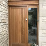 Solid Oak Timber Front Door With Sidelight