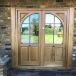 Solid Oak Front Doors With Curved Detail