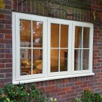 Stormproof timber window with cottage style bars