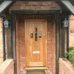 Solid Oak Timber Front Door With Vision Panels